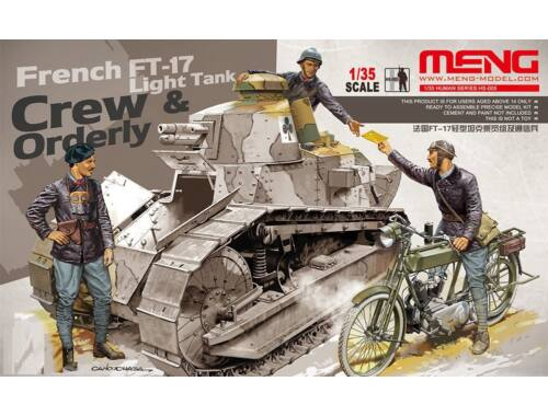 Meng French FT-17 Light Tank Crew   Orderly 1:35 (HS-005)