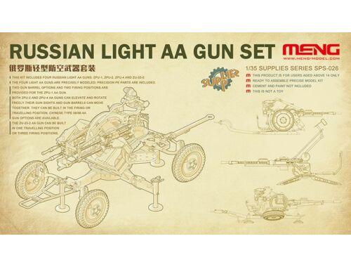 Meng Russian Light AA Gun Set 1:35 (SPS-026)