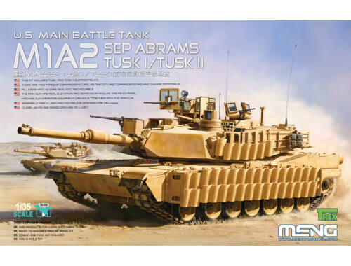Meng U.S.Main Battle Tank M1A2 SEP AbramsTUSK TUSK I/TUSK II 1:35 (TS-026)