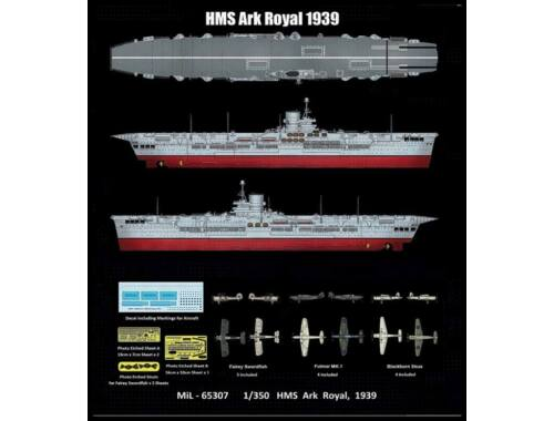 Merit HMS Ark Royal 1939 1:350 (65307)