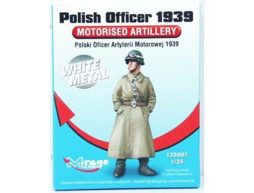 Mirage Hobby Polish Officer 1939 Motorised Artillery White Metal 1:35 (135001)