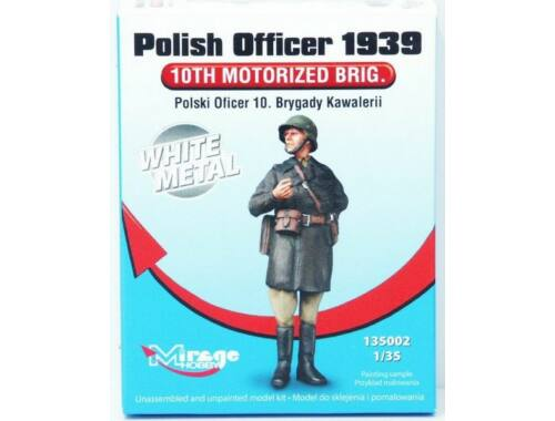 Mirage Hobby Polish Officer 1939'10th Motorised Brig. White Metal 1:35 (135002)