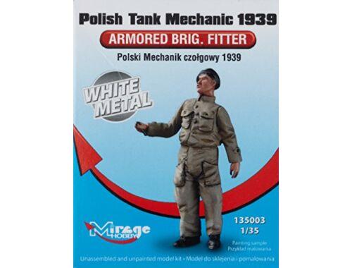 Mirage Hobby Polish Tank Mechanic 1939 Armored Fitter White Metal 1:35 (135003)