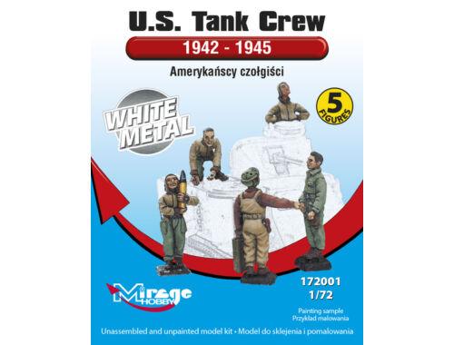Mirage Hobby U.S.Tank Crew 1942-45(5 Figures/WhiteMet 1:72 (172001)