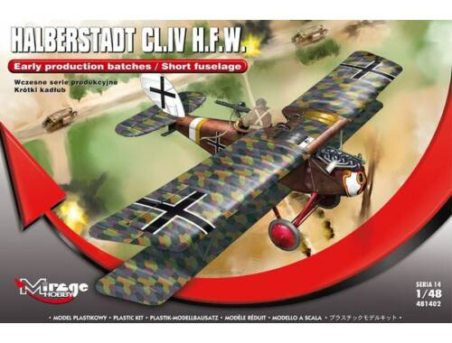 Mirage Hobby Halberstadt CL.IV H.F.W.(Early productio production batches/Short fuselage 1:48 (481402