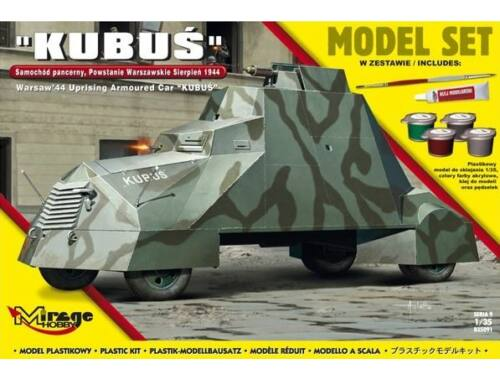 Mirage Hobby Kubus(Warsaw'44 Uprising Armoured Car) Model Set 1:35 (835091)