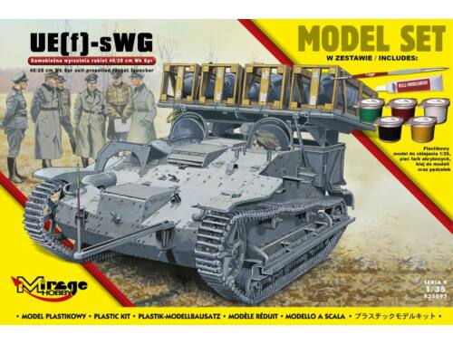 Mirage Hobby UE(f)-sWG,40/28cm WK Spr(German self-pro propelled rocket launcher)(ModelSet 1:35 (8350