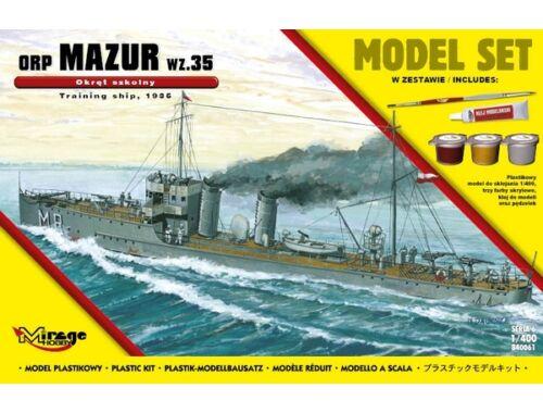 """Mirage Hobby ORP""""MAZUR""""1935(Training Ship)(Model Set) 1:400 (840061)"""