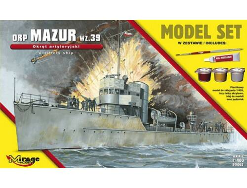 "Mirage Hobby ORP""Mazur""-wz.39(the GunneryShip)ModelSe 1:400 (840062)"