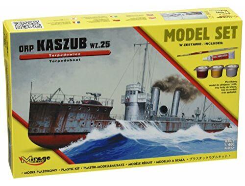 """Mirage Hobby ORP""""KASZUB""""-wz.25-TORPEDO Ship(Model Set 1:400 (840063)"""