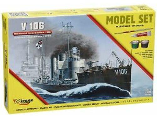 Mirage Hobby V 106 German WWI Torpedo Ship(Model Set 1:400 (840064)