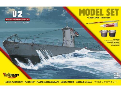 Mirage Hobby U2(German Submarine WWII typeIIA(ModelSe 1:400 (840065)