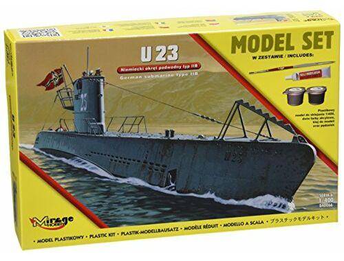 Mirage Hobby U23 (German Submarine WWII TypeIIB(Model (Model Set) 1:400 (840066)