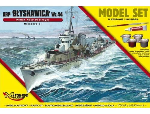 "Mirage Hobby ORP""Blyskawica""-wz.44(Polish Destroyer WWII)(Model Set) 1:400 (840091)"