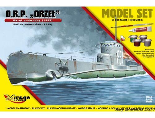 """Mirage Hobby ORP""""Orzel""""(Polish Submarine1939)ModelSet 1:400 (840092)"""
