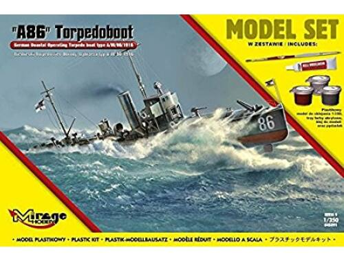Mirage Hobby A86 German Torpedoboot (Model Set) 1:350 (845091)