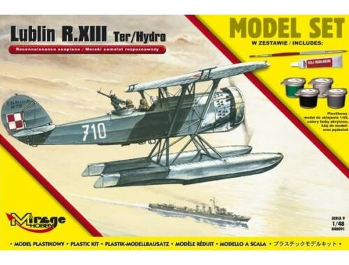 Mirage Hobby Lublin R.XIII Ter/Hydro Reconnaissance s seaplane (Model Set) 1:48 (848091)