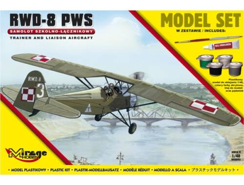Mirage Hobby R.W.D.-8 PWS(Trainer a.Liaison plan vers (Model Set) 1:48 (848092)