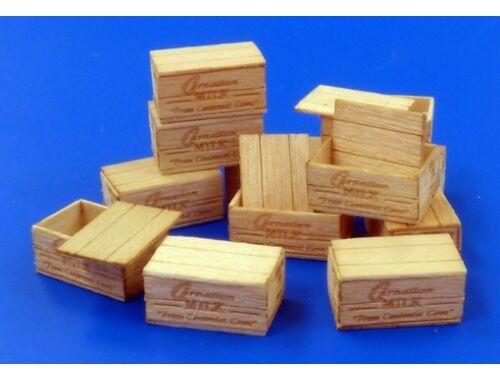 Plus Model U.S.Wooden crates for condensed milk 1:35 (481)