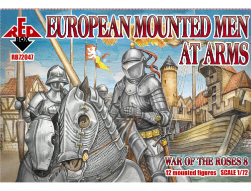 Red Box European Mounted Men at Arms,War of the Roses 8 1:72 (72047)