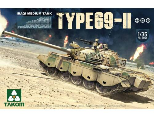 Takom Iraqi Medium Tank Type-69 II 2 in 1 1:35 (2054)
