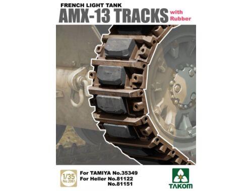 Takom French Light Tank AMX-13 Tracks with Rub Rubber 1:35 (2061)