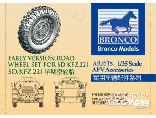 Bronco Sdkfz.221 road wheel set (Early version) 1:35 (AB3518)