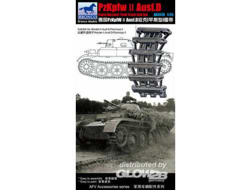Bronco Pzkpfw.II Ausf.D (Early Version) Track Link Set 1:35 (AB3520)