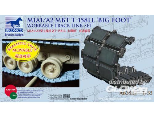 Bronco US M1A1/A2 T-158LL Big Foot Work. Track Link Set 1:35 (AB3522)
