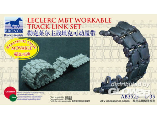 Bronco French Leclerc MBT Workable Track LinkSe set 1:35 (AB3525)