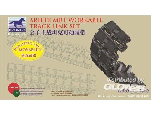 Bronco Italian C-1 Ariete MBT Workable Track Link Set 1:35 (AB3527)
