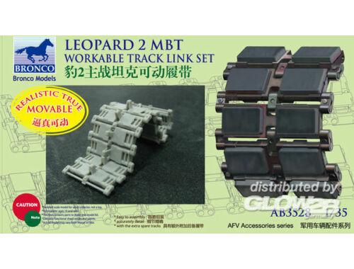 Bronco German Leopard 2 MBT Workable Track Link Set 1:35 (AB3528)