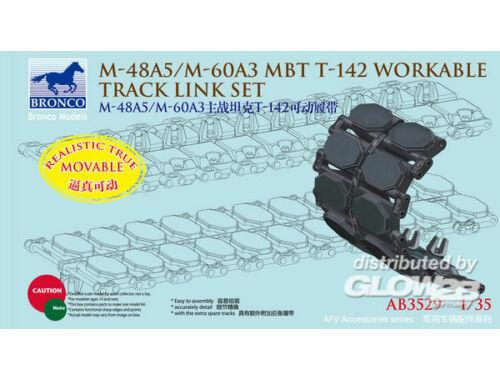 Bronco US M-48A5/M-60A3 MBT T-142 Workable Trac Link Set 1:35 (AB3529)