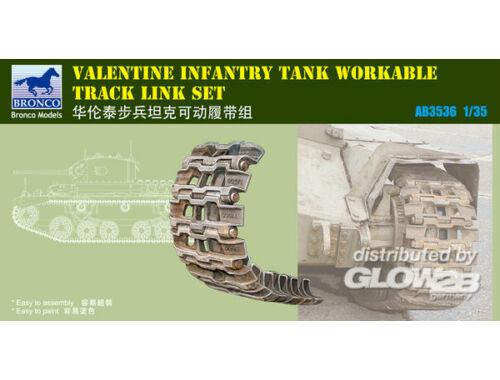 Bronco British Valentine Tank Workable Track Li Link Set 1:35 (AB3536)