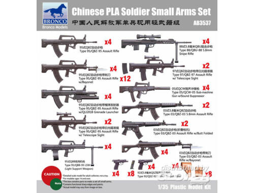 Bronco Chinese PLA Solider Small arms Set 1:35 (AB3537)