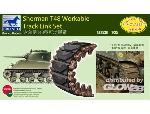 Bronco Sherman T48 Workable Track Link Set 1:35 (AB3538)