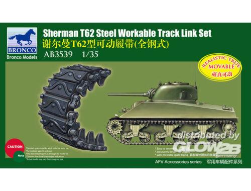 Bronco Sherman T62 Workable Track Link Set 1:35 (AB3539)