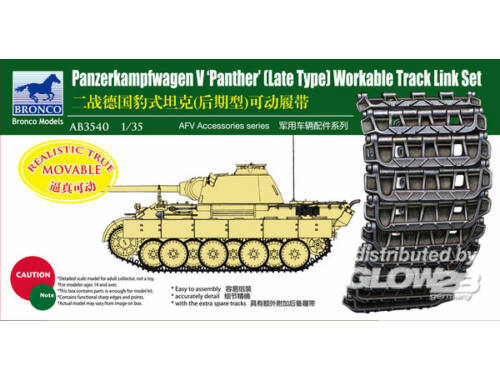 Bronco Panther Late Type Workable Track LinkSet 1:35 (AB3540)