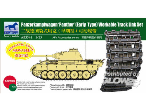 Bronco Panther Early Type Workable Track LinkSe 1:35 (AB3541)