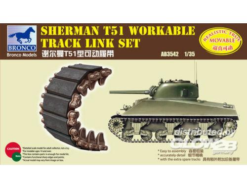 Bronco Sherman T51 Workable Track Link Set 1:35 (AB3542)