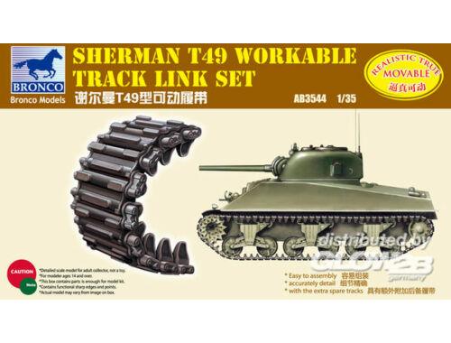Bronco Sherman T49 Workable Track Link Set 1:35 (AB3544)