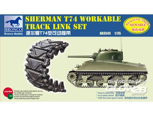 Bronco Sherman T74 Workable Track Link Set 1:35 (AB3545)