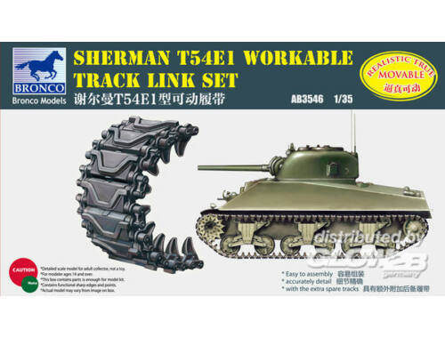 Bronco Sherman T54E1 Workable Track Link Set 1:35 (AB3546)