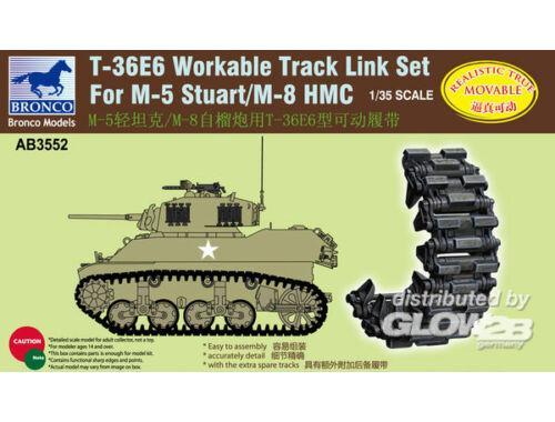 Bronco T-36E6 Workable Track Set for M-5/M-8 Stuart 1:35 (AB3552)