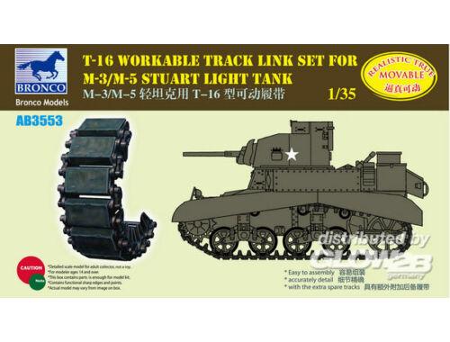 Bronco T-16 Workable Track Set f.M-3/M-5 Stuart 1:35 (AB3553)