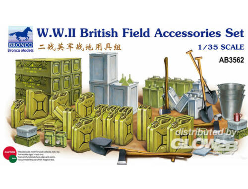 Bronco WWII British Field Accessories Set 1:35 (AB3562)
