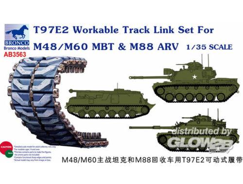 Bronco T97E2 Workable Track Link Set forM48/M60 MBT 1:35 (AB3563)