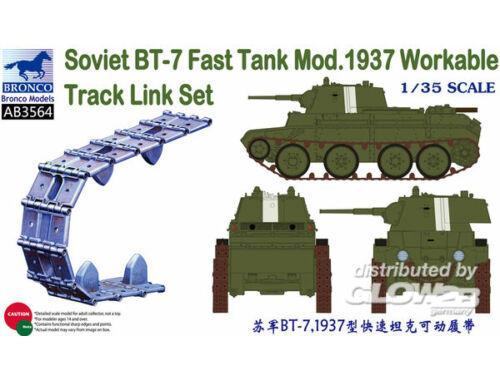 Bronco Soviet BT-7 Fast Tank Mod.1937 Workable Track Link Set 1:35 (AB3564)