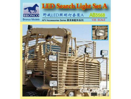 Bronco LED Search Light Set A. 1:35 (AB3568)