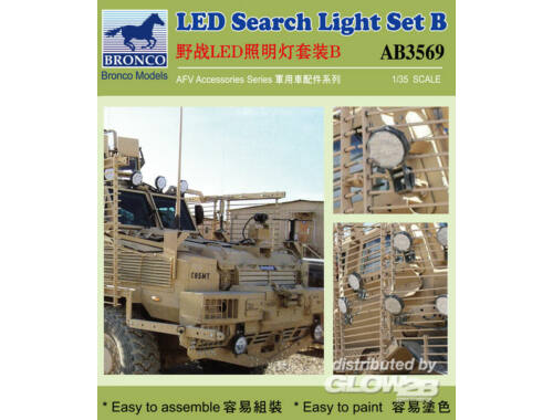 Bronco LED Search Light Set B. 1:35 (AB3569)